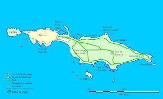 Mapa de la Isla de Tabarca.