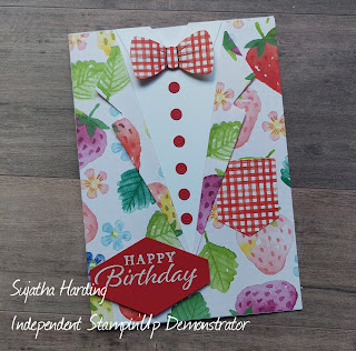 Berry Delightful Suit and Tie Stampin' Up Card