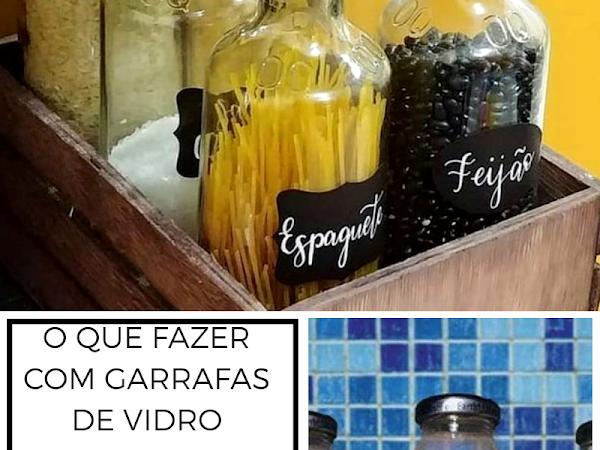 Para reutilizar garrafas de vidro de suco ou molho de tomate