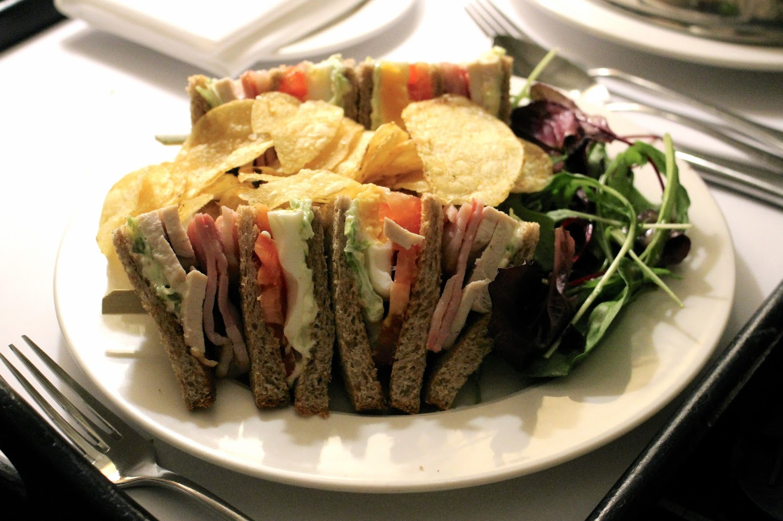 edinburgh the caledonian room service club sandwich
