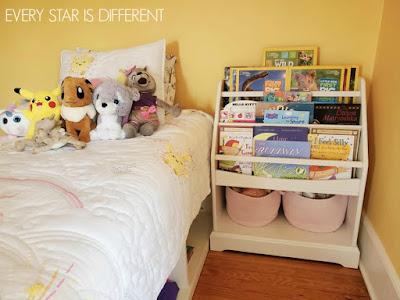 A Minimalist Montessori Girl's Room: Book Storage