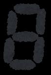 デジタル数字のイラスト文字(8)