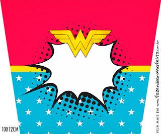 Cumpleaños de la Mujer Maravilla Afro: Invitaciones y Etiquetas para Candy Bar para Imprimir Gratis.