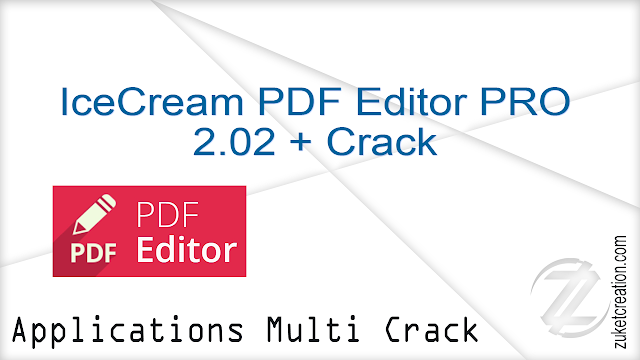 IceCream PDF Editor PRO 2.02 + Crack