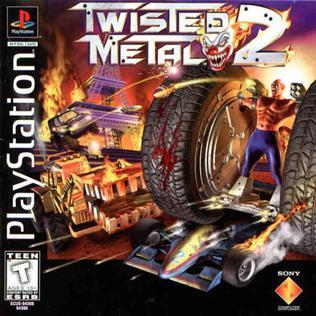 Capa do jogo twisted metal 2 - PS1 1996 iso Jogo-sem-vírus