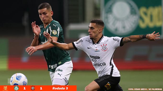 Palmeiras empata com Corinthians e aumenta invencibilidade no clássico
