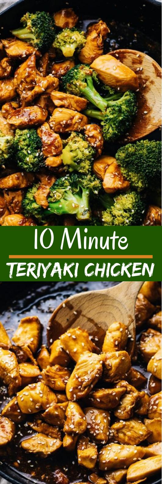 10-Minute Teriyaki Chicken #healthy #lunch