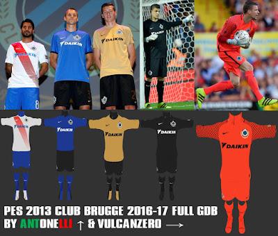 PES 2013 Club Brugge 2016-17 Full GDB BY ANTONELLI & VULCANZERO
