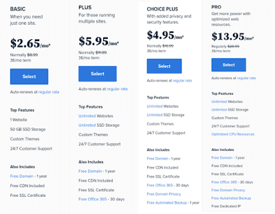 Bluehost deals and plans