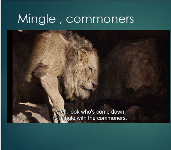 Mingle , commoners
