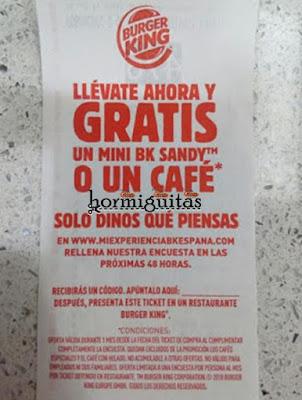 cafe gratis Burger King
