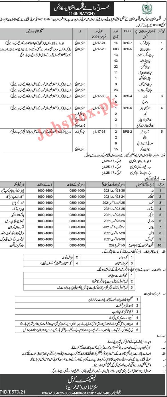 Gilgit Baltistan Scouts Jobs 2021 – GB Scouts Jobs Batch 14th