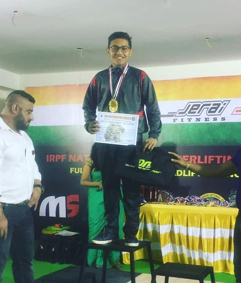International powerlifter sportsperson powerlifter Varun Pradip Dave Pics
