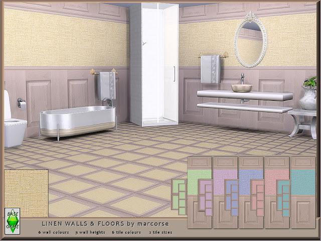 Комплекты деревянных покрытий пол+стена для Sims 4 со ссылкой для скачивания