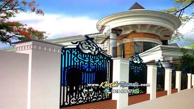 Pagar Rumah Klasik Besi Tempa