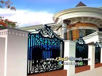 Pagar Rumah Besi Tempa Klasik