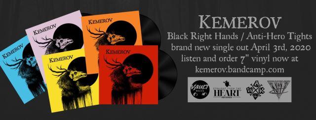 "KEMEROV: Ακούστε το νέο τους single ""Black Right Hands / Anti-Hero Tights"""