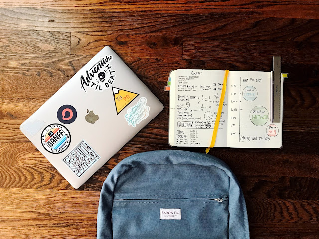 Back to school flat lay