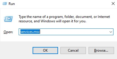 Lệnh truy cập vào service Windows
