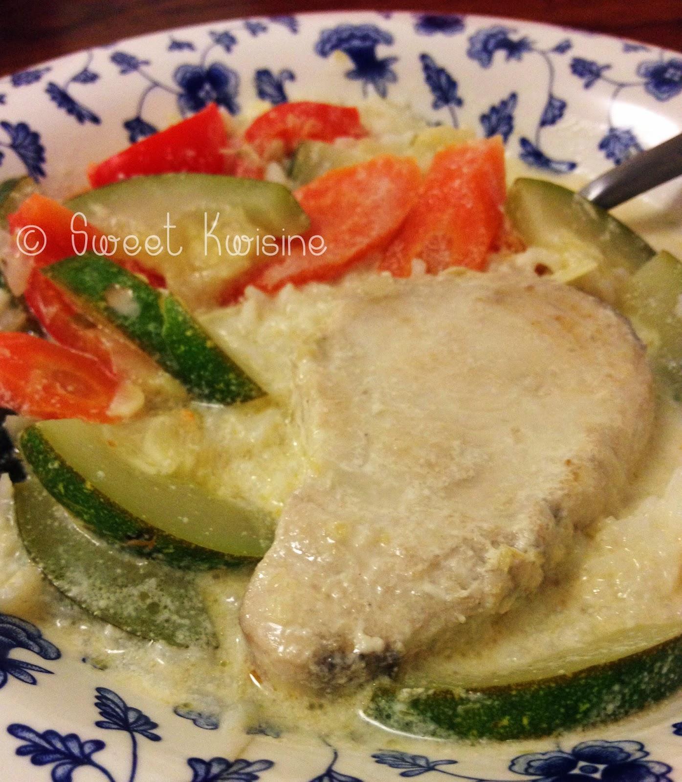 sweet kwisine, poisson, blanquette, lait de coco, Laurent mariotte,cuisine asiatique, citron, légumes,