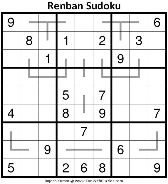 Renban Sudoku Puzzle (Fun With Sudoku #339)