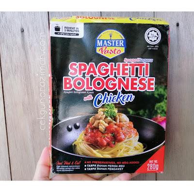 masterpasto, spageti segera, cara mudah sediakan spageti segera, best spaghetti, ready to eat meal in malaysia