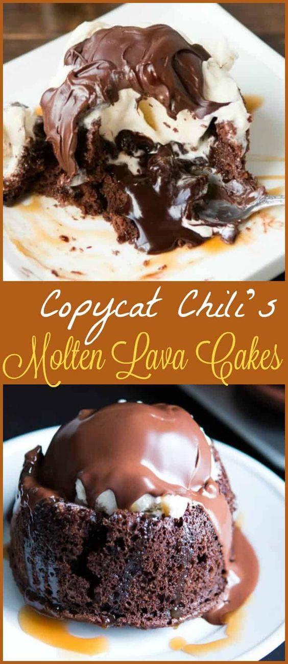 Copycat Chili's Molten Lava Cakes Recipe