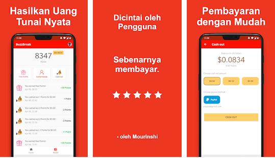 Aplikasi BuzzBreak – Untuk kalian yang saat ini mengeluh karena kekurangan penghasilan. jangan khawatir, saat ini ada banyak aplikasi penghasil uang yang dapat kalian gunakan dari smartphone kalian.  Setelah sebelumnya viral aplikasi seperti GoIns, Zareklamy, dan JD Union, kini ada lagi yang viral aplikasi pengasil uang yang sangat banyak dicari orang saat ini, yaitu aplikasi BuzzBreak.   Aplikasi BuzzBreak ini sejenis platform penyedia berita tetapi dapat memberikan kalian penghasilan tambahan karena selain menmbaca berita menambah informasi kalian, kalian juga akan diberikan bayaran setiap kali kalian membaca berita pada aplikasi ini.  Untuk lebih jelasnya mari kita simak sedikit penjelasan yang sudah kami rangkum dalam artikel ini…  Aplikasi BuzzBreak - Dapatkan Uang Cepat Hanya Dengan Baca Berita  Apa Itu Aplikasi BuzzBreak ? Aplikasi BuzzBreak adalah aplikasi penghasil uang terbaik yang menyediakan berita dan video yang dapat kalian baca dan tonton secara gratis. Selain itu kalian dapat menghasilkan uang dari berita yang kalian baca.  Setiap berita yang kalian baca akan diberi imbalan berupa poin yang dapat kalian tukarkan menjadi dolar dan dapat di transfer ke rekening kalian selain itu bisa juga kalian tukarkan dengan pulsa prabayar.  Dengan menggunakan aplikasi ini kalian bisa menghasilkan tambahan pemasukan dengan menyelesaikan misi-misi yang sudah diberikan.   Hampir sama dengan aplikasi penghasil uang lainnya, jika kalian menyelesaikan misi maka kalian akan mendapatkan bonus poin yang besar dan memuaskan.  Tidak hanya itu, kalian juga akan mendapatkan bonus bonus tambahan jika kalian menawarkan aplikasi ini kepada teman kalian untuk mendapatkan poin bersama-sama.  Kemudahan menggunakan aplikasi ini serta kemudahan mendapatkan poin menjadikan aplikasi ini sebagai alternatif bagi kalian untuk menghasilkan uang lewat handphone kalian.  Fitur-Fitur Aplikasi BuzzBreak Untuk fitur-fitur yang disediakan aplikasi BuzzBreak ini terbilang sangat menarik dan sangat 