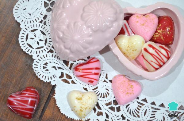 Postres: Corazones de chocolate para San Valentín