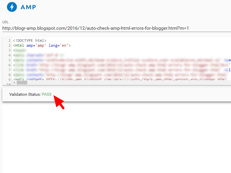 How to Check Valid AMP HTML on Blogger Pages (Without #development=1