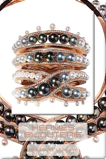 ♦Hermès Haute Bijouterie #hermès #jewelry #pearls #brilliantluxury