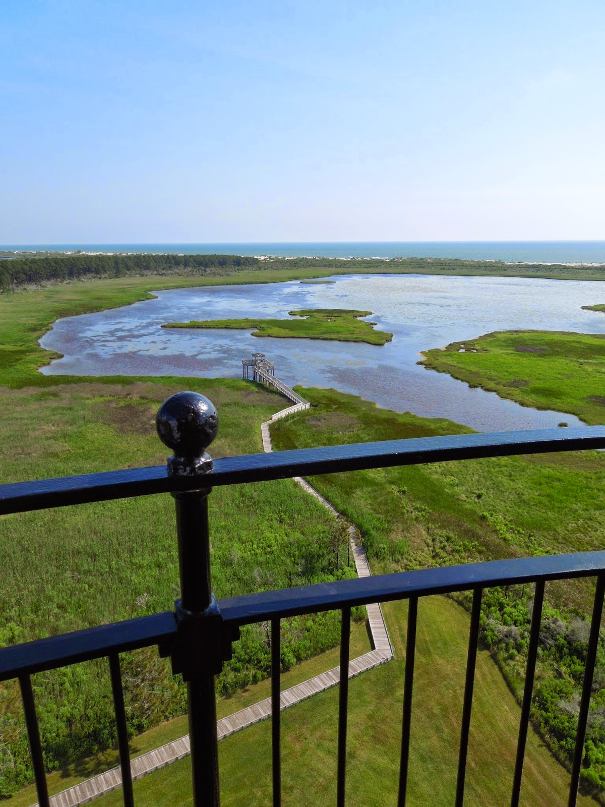 view from top of Bodie Island Lighthouse