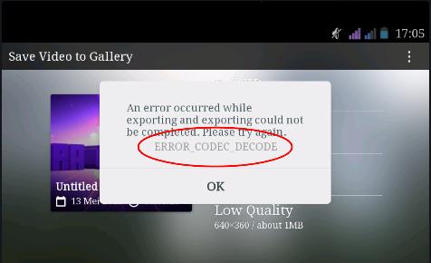 Cara mengatasi error codec tidak bisa menyimpan video dari ...