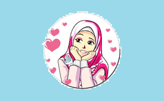 Stiker WA Cewe Berhijab