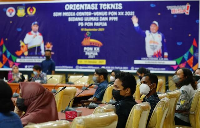 Kadkis Matdoan Sebut Pentingnya Orientasi Bagi SDM Media Center PON XX Papua.lelemuku.com.jpg