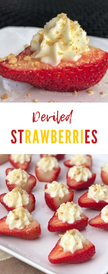 Deviled Strawberries #cake