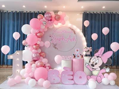 Trang trí sinh nhật bé gái ở Hà Đông