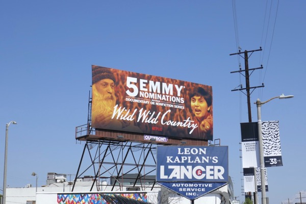Wild Wild Country Emmy nominee billboard