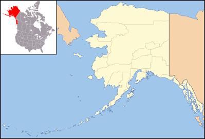 Mapa. A compra do Alasca