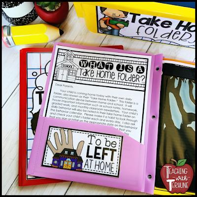 Parent Teacher Communication Folder