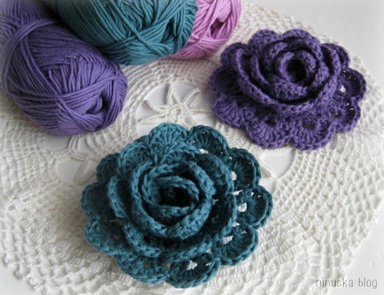 Préférence Patrons & modèles gratuits des fleurs au crochet - Le blog de mes  BD28