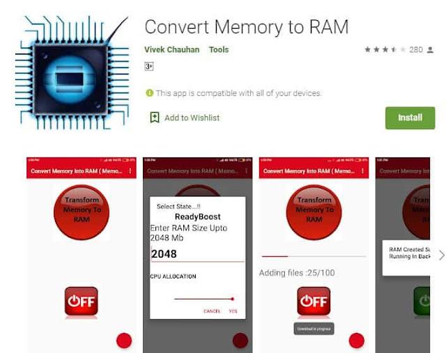 convert memory to ram