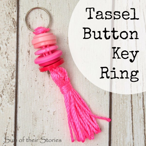 Tassel Button Key Ring