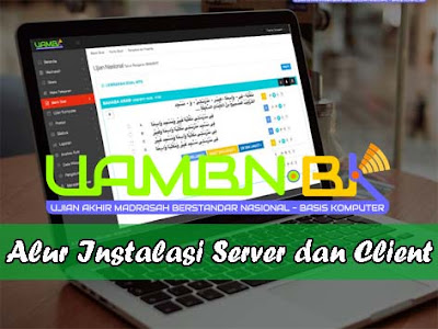 Alur Instalasi Aplikasi Client dan Server UAMBN-BK