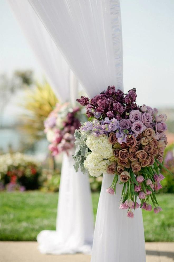ceremony floral flowers flower weddings events arrangements outdoor magazine tie designs designer arrangement backs romantic spring decorations chic decor heart