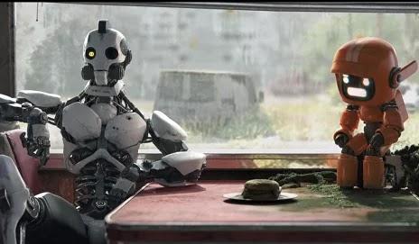 Les robots de Three Robots s'interrogent sur les vertus du hamburger