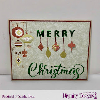 Custom Dies: Merry Christmas, Mini Lights & Ornaments, Paper Collection: Retro Christmas