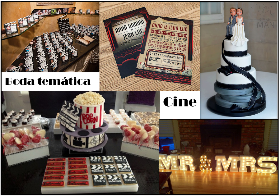 boda temática cine