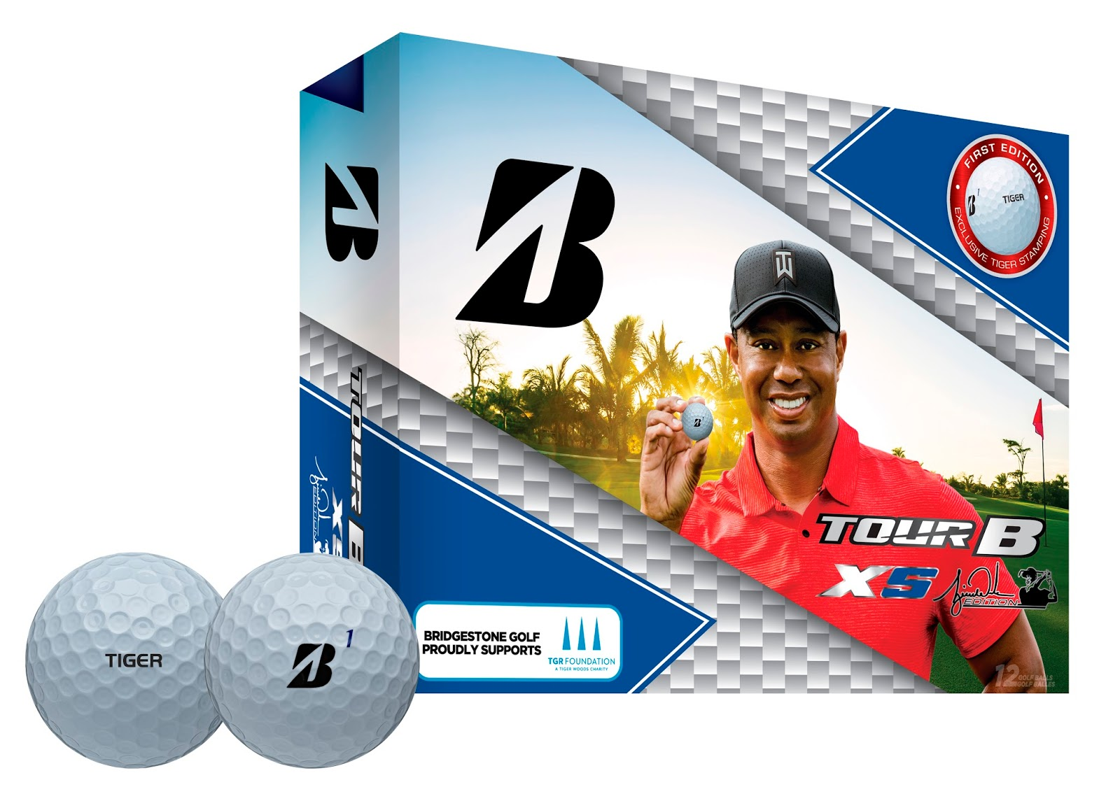 "91cf9ce3ee9 The golf balls feature a custom ""TIGER"" logo that replicates how Woods  marks his competition golf balls and distinct packaging to highlight the  charitable ..."