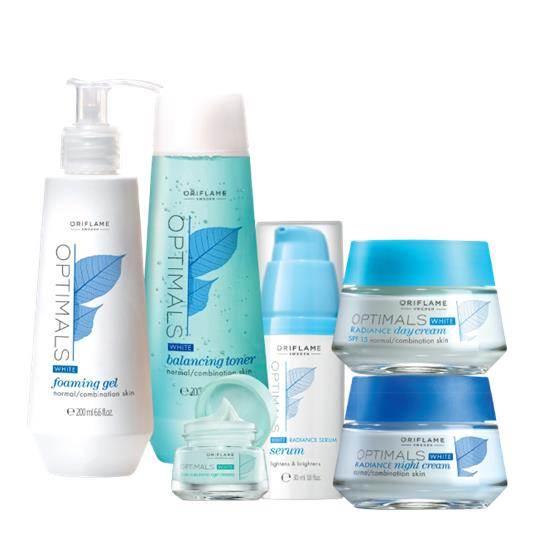 Optimals White Radince Skin Set